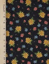 ISABELLA BLACK QT  100% Cotton Fabric priced by 1/2 yd