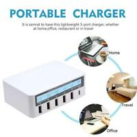Quick Charge QC 3.0 Smart 5 Port USB Charger Power Station Adapter Lcd s Di R8A5