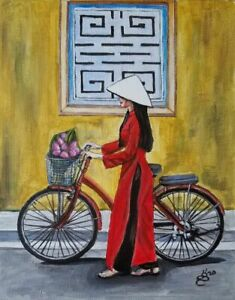 Vietnamese lady in red
