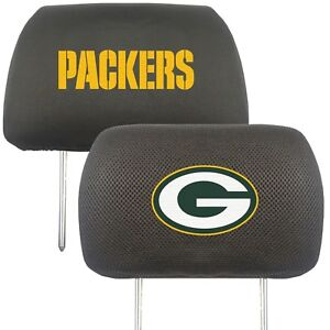 Fanmats NFL Green Bay Packers 2-Piece Embroidered Headrest Covers Del. 2-4 Days