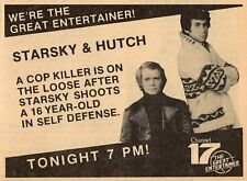 1979 WPHL PHILADELPHIA TV AD~STARSKY & HUTCH~DAVID SOUL & PAUL MICHAEL GLASER