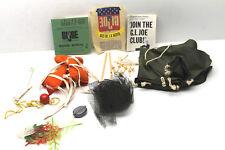Vintage 1965 Hasbro GI Joe Accessories Tent+Life Vest+Netting+Camo Ferns+Decal++