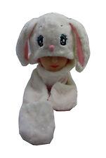 Children Kids Cartoon Animal Trapper Long Big Ear Rabbit Winter Warm Hat Scarf