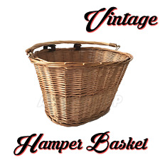 Wicker Basket Suitable for Hamper Flowers Shopping basket Picnic Leather Straps