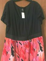 Lane Bryant Women's Size 18/20 Dress Lined Pullover Short Sleeve Stretchy NEW