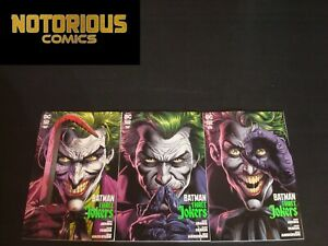 Batman Three Jokers 1-3 Complete Comic Lot Run Set Johns Fabok DC Black Label