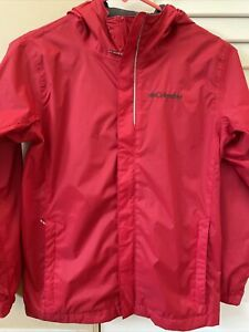 Youth Columbia Red Rain Jacket size M
