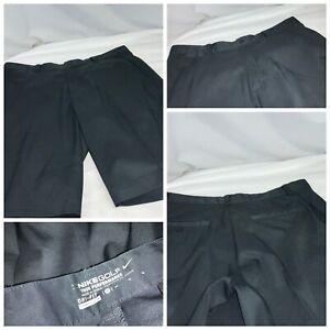 Nike Golf Tour Performance Shorts Sz 34 Black Poly Flat Front Mint YGI E1-70