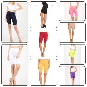 Women' Fitness Bike Shorts High Waist Soft Stretch Leggings Spandex Workout Yoga