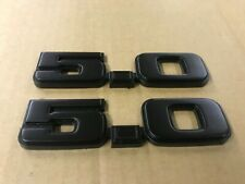"""87-93 Ford Mustang Factory 5.0 Fender Emblems """"Blacked Out"""" Restored OEM"""