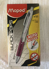 Maped -12 Count Black 'Peps No Click Automatic/Mechanical Pencil .7mm Hb