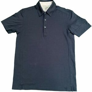 RAPHA Men's MERINO WOOL Navy Polo Shirt Short Sleeve Medium M Cycling