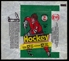 1977-78 OPC O-PEE-CHEE WHA HOCKEY CARD WAX PACK WRAPPER 15 cent Knife Ad style