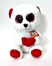 + ORSO cm. 25 CUDDLY BEAR PELUCHE OCCHI GRANDI Ty Beanie boo's LOVE S.VALENTINO