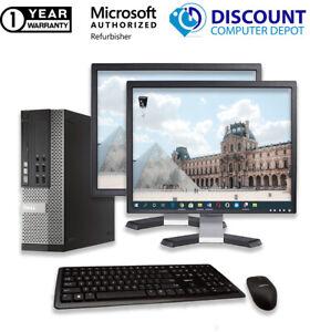 Dell Desktop Computer Core i5 16GB RAM 2TB 256GB SSD Windows 10 Pro PC 22in LCD
