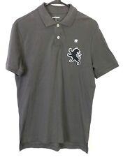 Express Mens Size Small Polo Shirt Big Lion Logo Gray New
