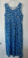 Erika Studio blue floral midi dress large summer