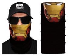 Face Mask IRON MAN Black Sun Shield Neck Gaiter Headband Bandana Du Rag SPF40