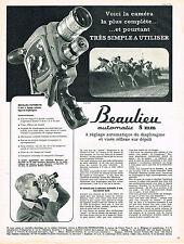 PUBLICITE ADVERTISING 024  1962   BEAULIEU    caméra automatic 8mm