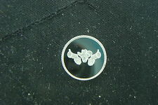 1 GRAM .999 SILVER SKULL WITH COWBOY HAT ROUND COIN BAR WITH 2 GUNS REAPER
