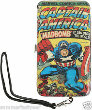 Captain America Phone Hinge Wallet Fits Most Smart Phones Free Shipping
