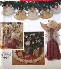 Christmas Tree Skirt pattern ornament angel wreath tree topper S7938 Botsford