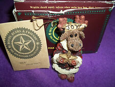 Boyds Bears Folk art 1997 Joy Von merrymoose ornament christmas