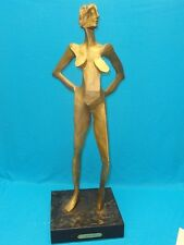 "MONUMENTAL MODERN ABSTRACT NUDE FEMALE WOOD SCULPTURE  I.S. FRIEDMAN  ""FEMINA"""