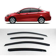 New Smoke Window Vent Visors Rain Guards for Hyundai Accent 4Door 11 - 15