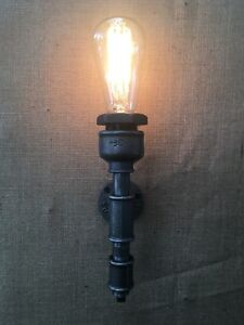 Wrought Iron British Steampunk Vintage Industrial Single Wall Light