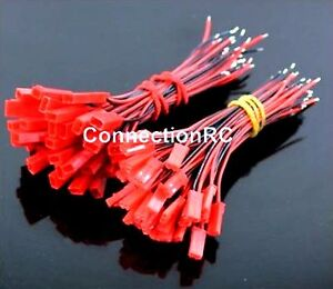 JST Connectors with Leads x 4 Pairs