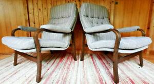 Armchair Club Chair Vintage 60er Easy Lounge Danish Westnofa Rykken Era 1/2
