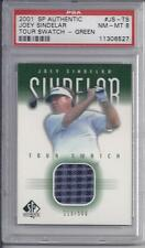 2001  sp Authentic   JOEY SINDELAR Tour Swatch Green NM-MT8