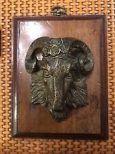 Antique Erotic Devil Witch Baphomet Bronze Goat Head