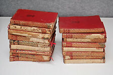 Antique Mark Twain Limp Leather 17 Volume Classics Collection S5437