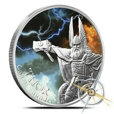 The Norse God Coin Series Thor - Valkyrie 1 oz Silver Colorized Proof Round Coin