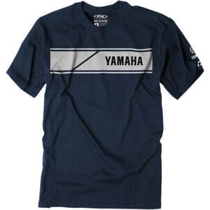Factory Effex Yamaha Speed Block T-Shirt (Navy Blue) Choose Size