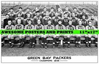 "Rare, Vintage, NFL 1936 Green Bay Packers Team Photo Large Reprint 11""x17"""
