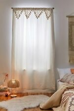 Cotton tassels window curtain fringes boho room decor hippie curtain tapestry