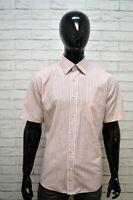 Camicia Uomo a Righe HUGO BOSS Taglia XL Maglia Manica Cotone Hemd Shirt Man