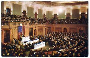 POSTCARD JOINT SESSION, U.S. CONGRESS, HALL OF REPRESENTATIVES, WASHINGTON D.C.
