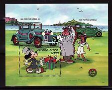 SELLOS CINE SIERRA LEONA 1989 HB116  DISNEY NAVIDAD 89 /COCHES PONTIAC