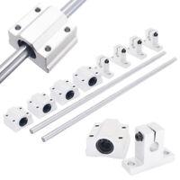2pcs 300mm Rod Rail Shaft With 4pcs SK8 Fixed Bearing SCS8UU Linear Slide Blocks