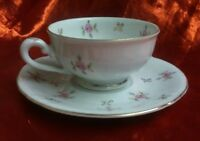 Winterling Bavaria Pretty Pink Rose Small Demitasse Cup & Saucer Set Germany