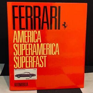 FERRARI AMERICA SUPERAMERICA SUPERFAST AUTOMOBILIA OUT OF PRINT BOOK 500 410