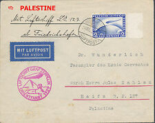 1929 Germany Graf Zeppelin Cover to Haifa Palestine Middle East Flight