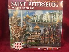 Saint Petersburg Russia Wall Calendar 2017 New Sealed 11.5x11.5 inches