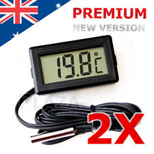 2x LCD Digital Temperature Thermometer Fridge Freezer Aquarium FISH TANK Meter