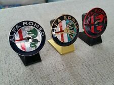 Alfa Romeo Table / Desk / Novelty Clocks Car Bonnet Badge (Silent Quartz)
