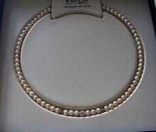 Collana Filo Perle Kioto diametro 5 mm Chiusura Oro Bianco Colnewb1/luc